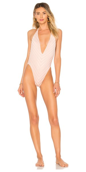 VITAMIN A Demi One Piece in blush - Self: 80% nylon 20% spandexLining: 83% recycled nylon...
