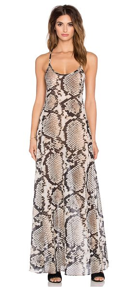 Vitamin A Flute maxi dress in beige