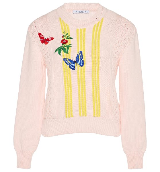 VIVETTA Bussola Embroidered Sweater in pink - This *Vivetta* Bussola Embroidered Sweater features a...