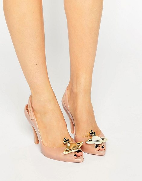 VIVIENNE WESTWOOD Lady Dragon Nude Orb Sling Heeled Sandal - Shoes by Vivienne Westwood For Melissa, Recyclable...