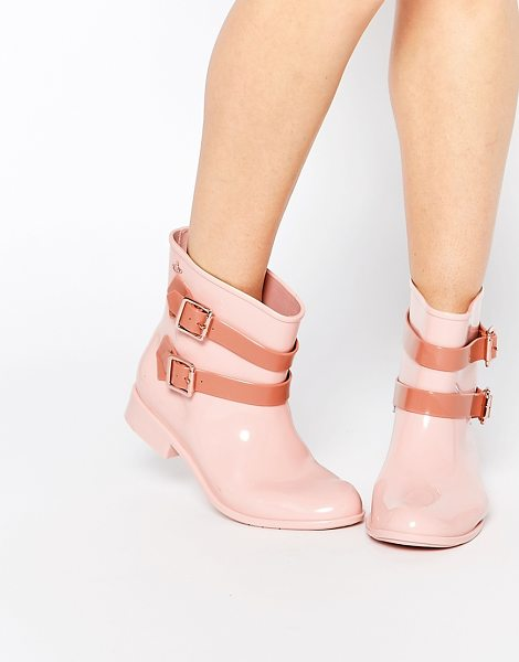Vivienne Westwood For Melissa Nude pirate ankle boots in nude - Boots by Vivienne Westwood For Melissa Recyclable...