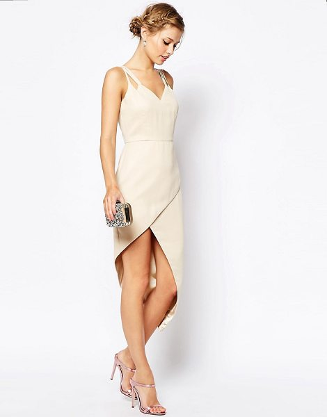 VLABEL LONDON Lyle Wrap Front Midi Dress With Cami Straps - Dress by VLabel London, Sheer chiffon, V-neckline, Multi...