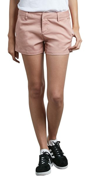 VOLCOM frochickie chino shorts - Classic chino shorts are made from a soft cotton blend...