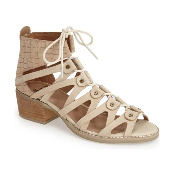 Von Dutch tightenup sandal in taupe