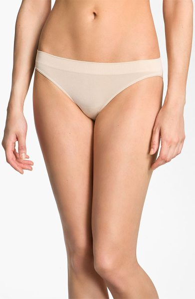 Wacoal 'b smooth' bikini in natural nude - Stretchy fabric shapes a low-rise bikini designed with...