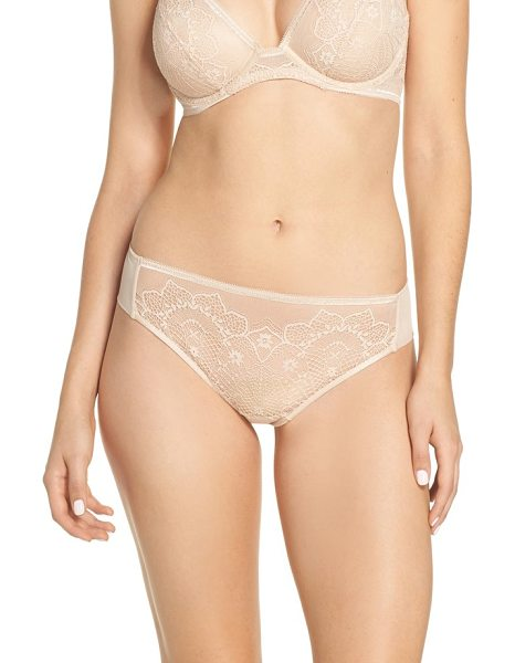 Wacoal basic benefits tanga in sand - Romantic lace and an easy fit update this chic everyday...