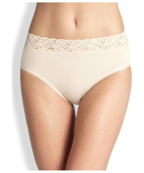 Wacoal cotton high-cut brief in sand