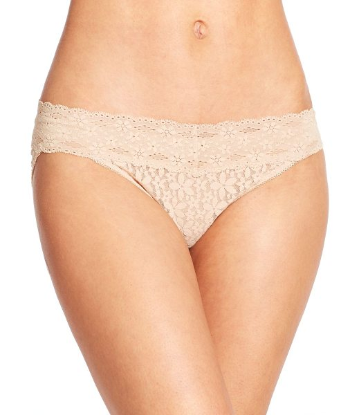 Wacoal halo lace bikini in natural - Crafted in feminine lace, this classic silhouette is a...