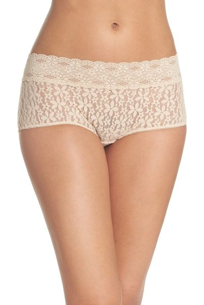 WACOAL 'halo lace' boyshorts - Helenca-patterned lace is light and airy on flirty...