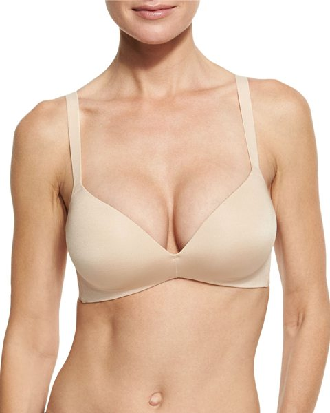 Wacoal Ultimate Side Smoother Wire-Free Contour Bra in sand