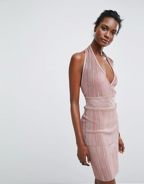 "Wal G Halterneck Dress in pink - """"Dress by Wal G, Woven fabric, Pleated finish, Halter..."