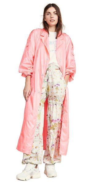 Walk of Shame waterproof trench coat in pink