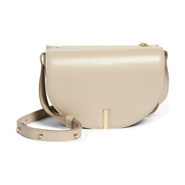 WANDLER nana leather saddle bag in beige