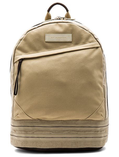 WANT LES ESSENTIELS Kastrup 15 in multi sand & mahogany - Canvas exterior and lining. Zip around closure....