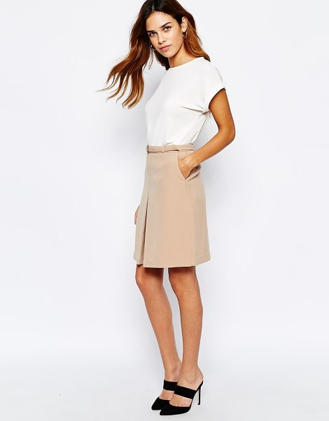 Warehouse 60s a-line skirt in camel - Skirt by Warehouse Mid-weight fabric Soft-touch finish...