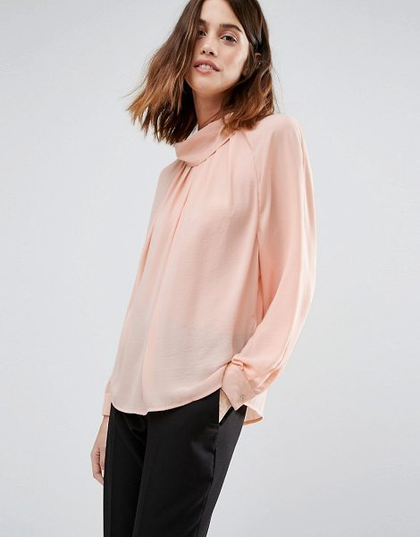 Warehouse Batwing Top in pink - Top by Warehouse, Lightweight woven fabric, Lightly...