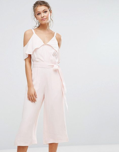 "Warehouse Cold Shoulder Jumpsuit in pink - """"Jumpsuit by Warehouse, Lightweight woven fabric,..."