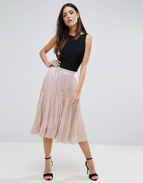 "WAREHOUSE Pleated Lame Skirt - """"Skirt by Warehouse, Satin-style fabric, Pleated..."