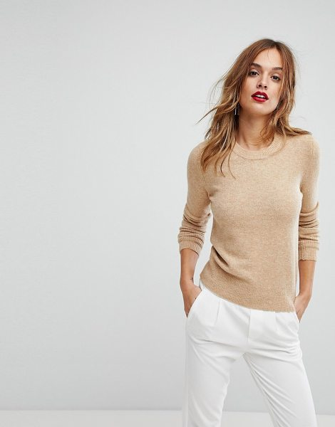 Warehouse Stretch Crew Sweater in cream - Sweater by Warehouse, Stretch knit, Soft-touch finish,...