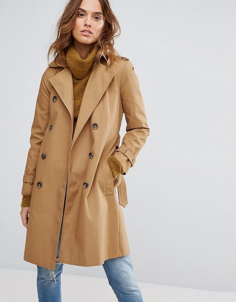 "Warehouse Trench Coat in cream - """"Coat by Warehouse, Smooth canvas outer, Fully lined,..."