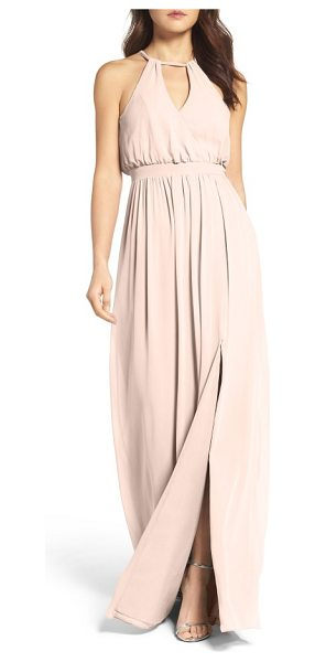 Watters fleurette a-line chiffon gown in buff - An effortless combination of the feminine with the...