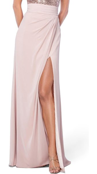 WATTERS natasha skirt in buff - Made from floaty chiffon, this floor-sweeping skirt with...