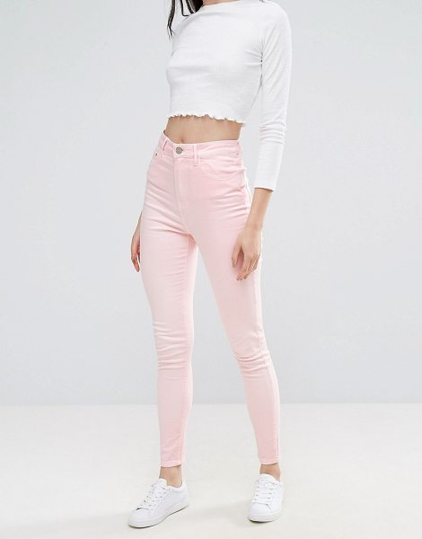 """WAVEN Anika High Rise Pink Skinny Jeans - """"""""Jeans by W VEN, Stretch denim, High-rise waist,..."""