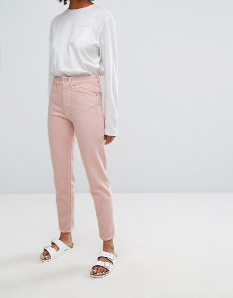 "Waven Elsa Mom Jean in Pastel in blushpink - """"Mom jeans by W VEN, Non-stretch denim, Pink wash,..."