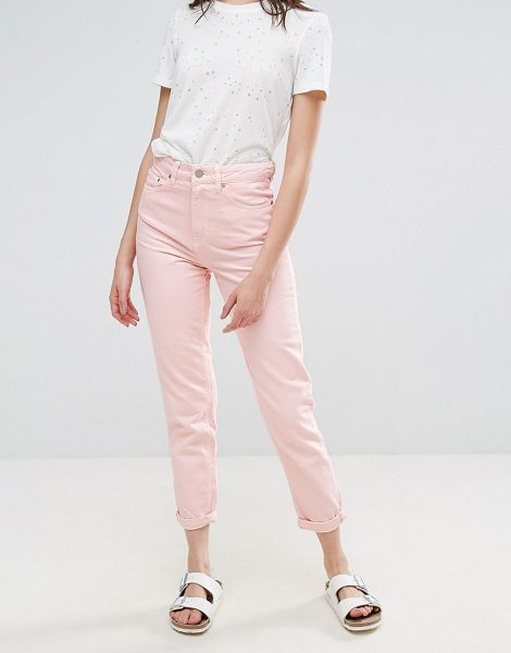 """Waven Elsa Pink Mom Jeans in pink - """"""""Mom jeans by W VEN, Non-stretch denim, High-rise..."""