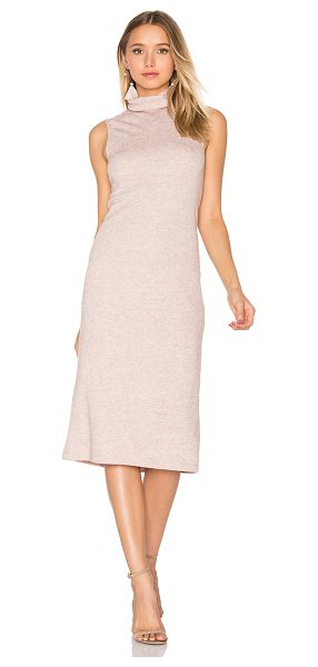 WAYF Cast Away Knit Dress in blush - 85% poly 15% rayon. Dry clean only. Unlined. WAYF-WD87....