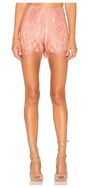 Wayf Dew Drop Short in rose - Self: 60% cotton 40% nylonLining: 100% poly. Dry clean...