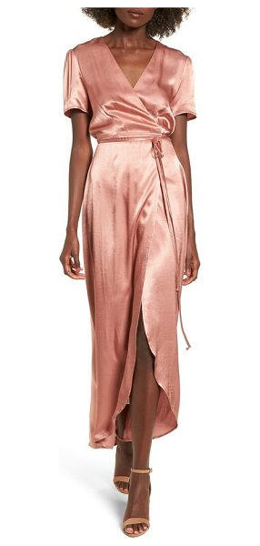 WAYF gwyneth wrap maxi dress - Add the instant glam of silky satin to any occasion in...