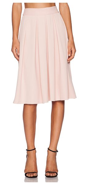 Wayf Pleated midi skirt in blush - 94% poly 6% spandex. Dry clean only. Skirt measures...
