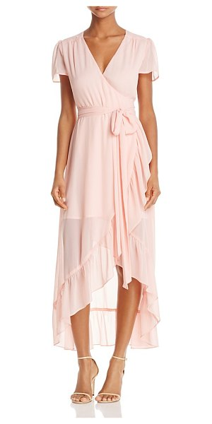 Wayf Ruffle Short-Sleeve Wrap Dress - 100% Exclusive in blush - Wayf Ruffle Short-Sleeve Wrap Dress - 100% Exclusive-Women