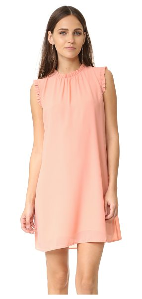 Wayf Ruffle tank dress in blush - A simple WAYF shift dress, composed of delicate crepe...