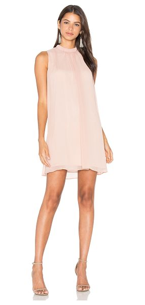 Wayf Sugar Dust Ruffle Dress in blush - Self & Lining: 100% poly. Dry clean only. Fully lined....