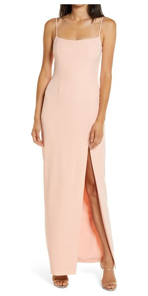 Wayf the lettie column gown in pink