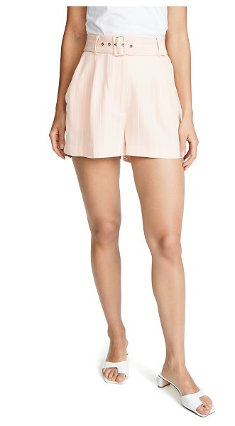 Wayf titus shorts in blush wide stripe