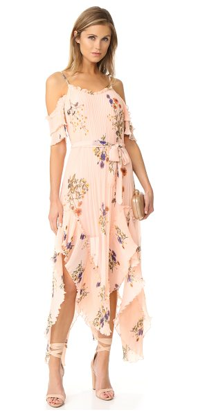 We Are Kindred country field maxi dress in ditsy marigold - A mix of pleated and smooth panels gives this floral We...
