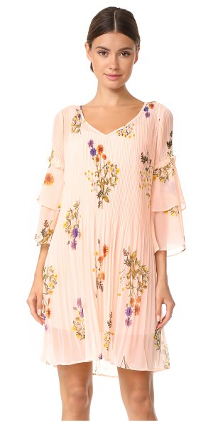 We Are Kindred country field pleated shift dress in ditsy marigold - Soft, clean pleats lend movement to this breezy floral...