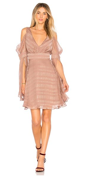 We Are Kindred Lolita Mini Dress in brown - Self: 98% silk 2% lurexLining: 100% poly. Dry clean...