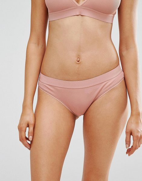 Weekday Note Brief in pink - Briefs by Weekday, Smooth stretch fabric, Elasticated...