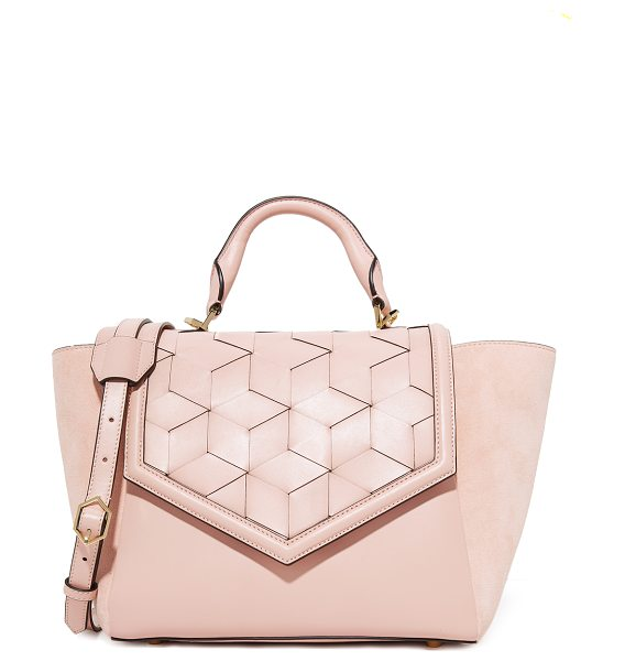Welden saunter flap satchel in rose pink
