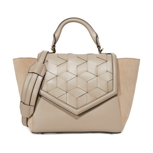 Welden saunter flap satchel in dessert taupe
