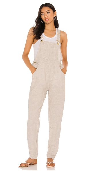 WeWoreWhat basic linen overalls in natural