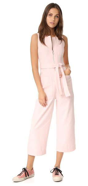 Whistles alex tie jumpsuit in pink - NOTE: Sizes listed are UK. A pastel hue softens the...