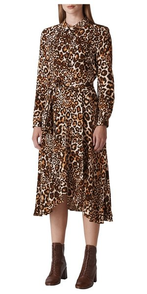 Whistles esme shirtdress in brown - Make a wild statement with every step you take in this...