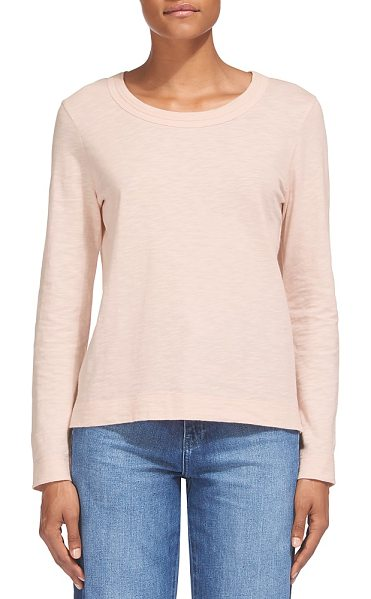 Whistles Rosa Double Trim Long Sleeve Tee in pale pink - Whistles Rosa Double Trim Long Sleeve Tee-Women