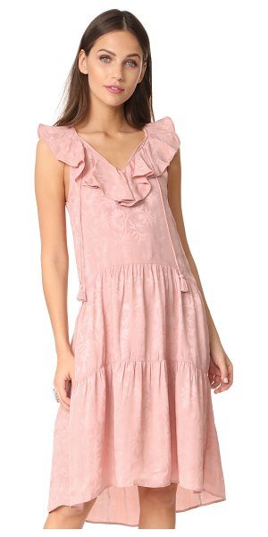 Whistles stephanie ruffle dress in pink - This silky Whistles dress is embellished with a subtle...