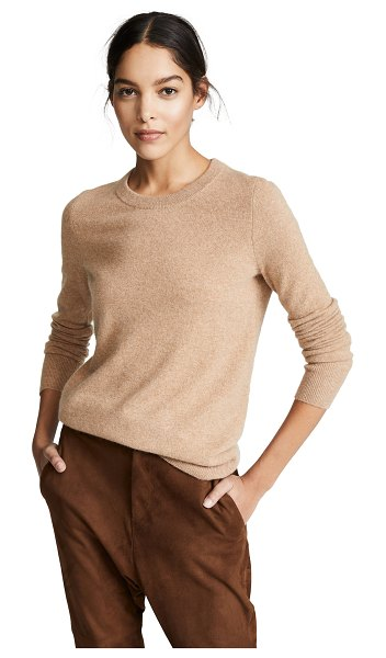 White + Warren essential cashmere sweater in camel - Fabric: Lightweight knit Pullover style Waist-length...